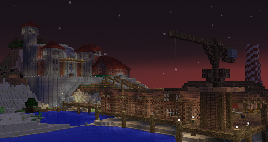 View of the spawn castle.